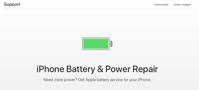 battery iPhone support