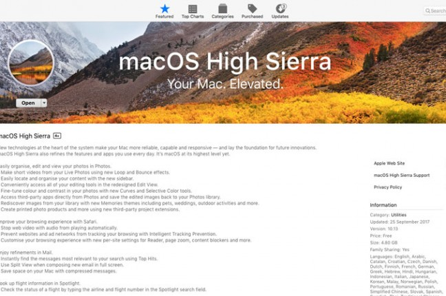 macOS-High-Sierra-Mac-App-Store